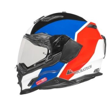 Touratech Red Blue Aventuro Carbon 2 Sport Duel Sport Helmet 2
