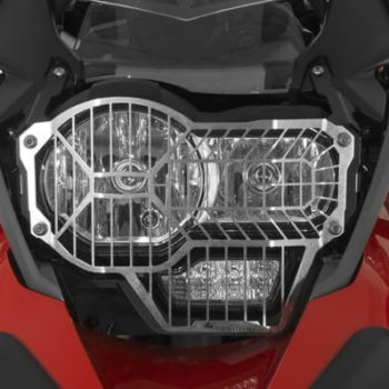 Touratech Silver Standard Headlight Protector With Quick Release For BMW R1200 GS 1