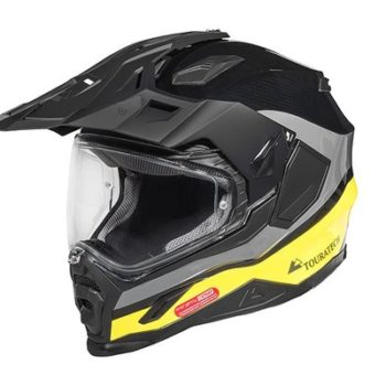 Touratech Yellow Aventuro Carbon 2 Companero Duel Sport Helmet 1