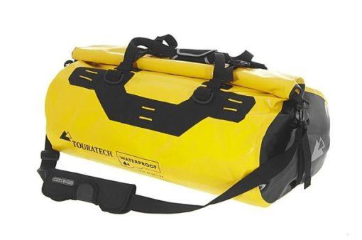 Touratech Yellow Black Dry Bag Adventure Rack Pack Luggage Bag 1