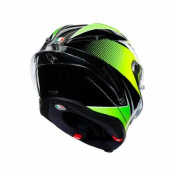 AGV Corsa R Multi Plk Super Sport Matt Black White Lime Full Face Helmet 1