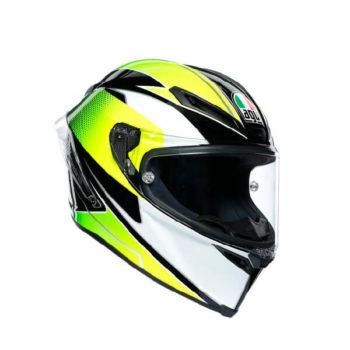 AGV Corsa R Multi Plk Super Sport Matt Black White Lime Full Face Helmet