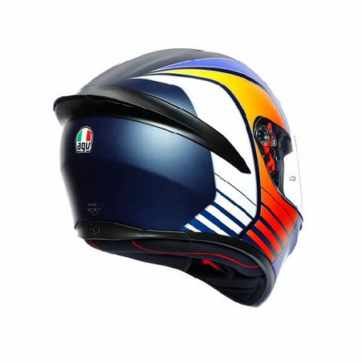AGV K1 Power Matt Dark Blue Orange White Full Face Helmet 1