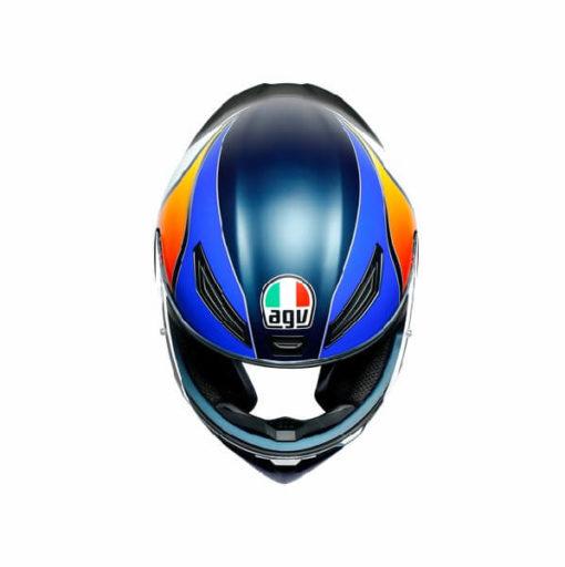 AGV K1 Power Matt Dark Blue Orange White Full Face Helmet 2