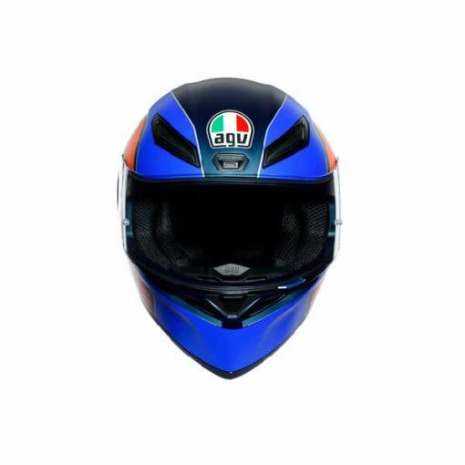 AGV K1 Power Matt Dark Blue Orange White Full Face Helmet 3