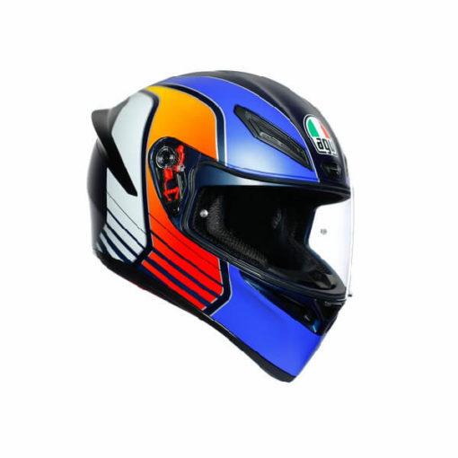 AGV K1 Power Matt Dark Blue Orange White Full Face Helmet