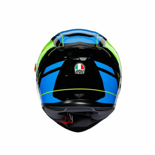 AGV K5 S Core Gloss Black Cyan Fluorescent Yellow Full Face Helmet 1
