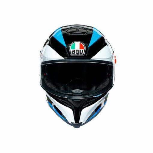 AGV K5 S Core Gloss Black Cyan Fluorescent Yellow Full Face Helmet 2