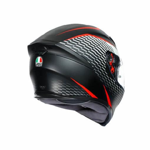 AGV K5 S Multi Plk Thunder Matt Black White Red Full Face Helmet 1