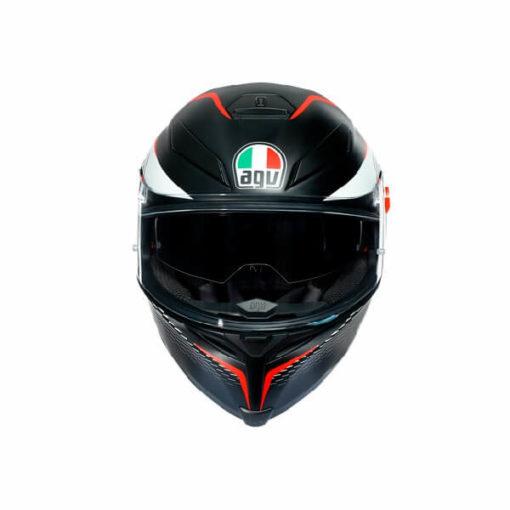 AGV K5 S Multi Plk Thunder Matt Black White Red Full Face Helmet 2