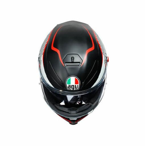 AGV K5 S Multi Plk Thunder Matt Black White Red Full Face Helmet 3