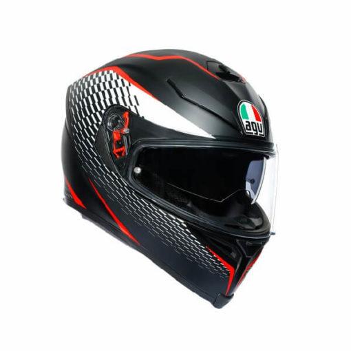 AGV K5 S Multi Plk Thunder Matt Black White Red Full Face Helmet