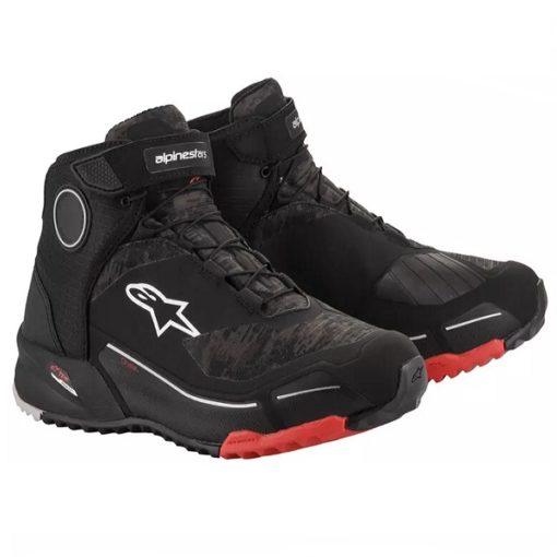Alpinestars CR X Drystar Black Camo Red Riding Shoes