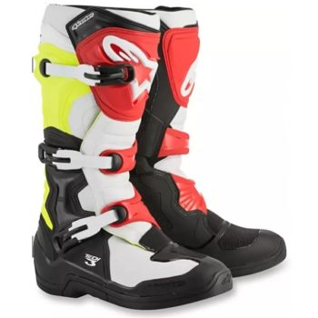 Alpinestars Tech 3 Black White Fluorescent Yellow Red Boots