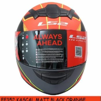 LS2 FF352 Kascal Matt Black Orange Full Face Helmet 1