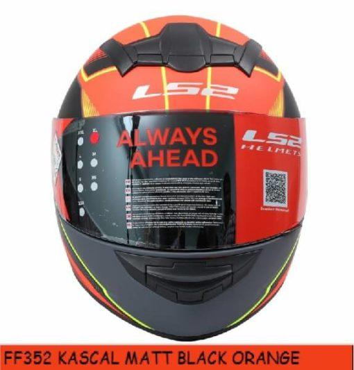 LS2 FF352 Kascal Matt Black Orange Full Face Helmet 1