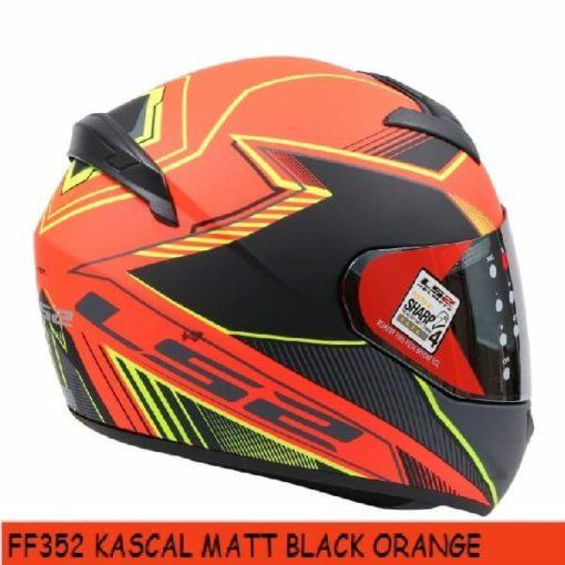 LS2 FF352 Kascal Matt Black Orange Full Face Helmet