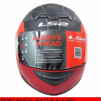 LS2 FF352 Kascal Matt Black Red Full Face Helmet 1