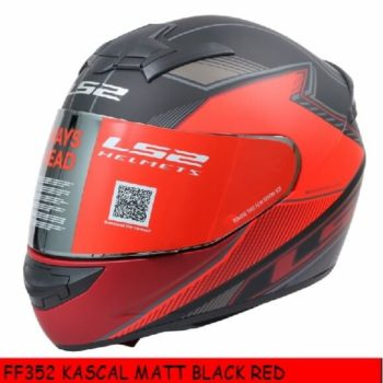 LS2 FF352 Kascal Matt Black Red Full Face Helmet