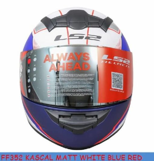 LS2 FF352 Kascal Matt White Blue Red Full Face Helmet 1