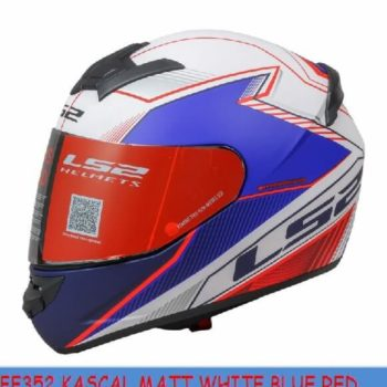 LS2 FF352 Kascal Matt White Blue Red Full Face Helmet