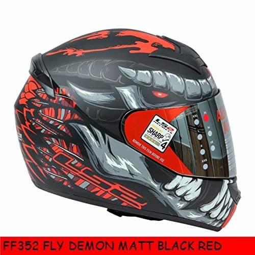 LS2 FF352 Rookie Fly Demon Matt Black Red Full Face Helmet