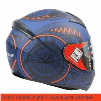 LS2 FF352 Rookie Takora Matt Black Blue Orange Full Face Helmet 1