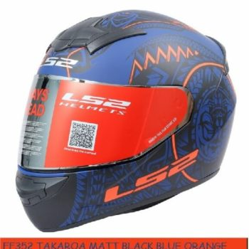 LS2 FF352 Rookie Takora Matt Black Blue Orange Full Face Helmet