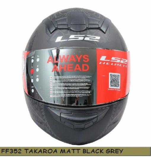 LS2 FF352 Rookie Takora Matt Black Grey Full Face Helmet 1