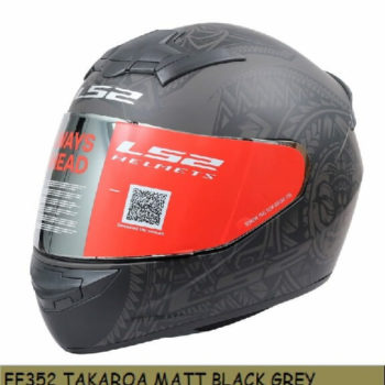 LS2 FF352 Rookie Takora Matt Black Grey Full Face Helmet