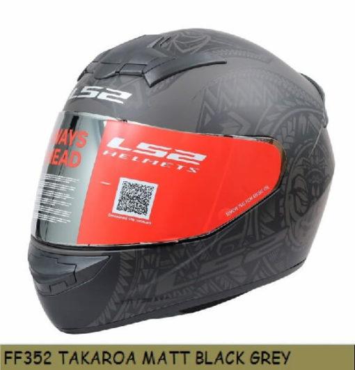 LS2 FF352 Rookie Takora Matt Black Grey Full Face Helmet