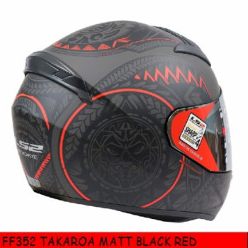 LS2 FF352 Rookie Takora Matt Black Red Full Face Helmet 1