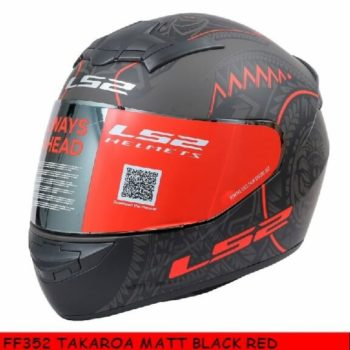 LS2 FF352 Rookie Takora Matt Black Red Full Face Helmet