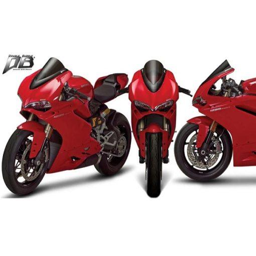 Zero Gravity Double Bubble Dark Smoke Windscreen For Ducati Panigale 959 2