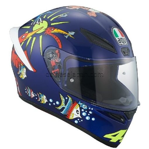 AGV K1 Top White Zoo Blue Gloss Blue Yellow Green Red Full Face Helmet