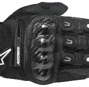Alpinestars Megawatt Hard Knuckle Black Riding Gloves 2020 A
