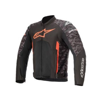 Alpinestars T GP Plus R V3 Air Camo Black Fluorescent Red Riding Jacket