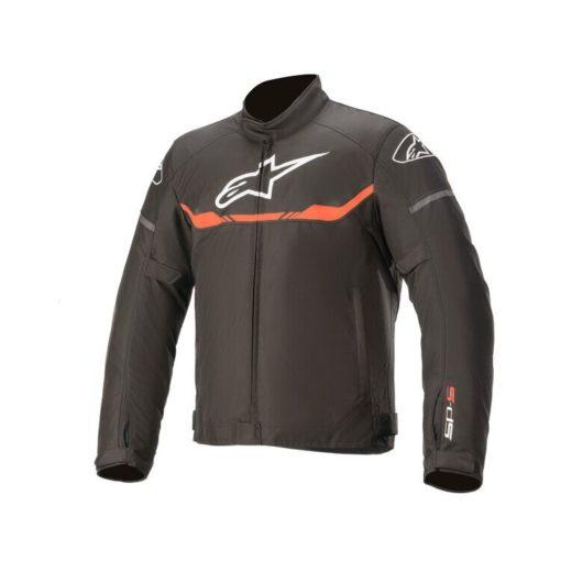 Alpinestars T SPS Waterproof Black Fluorescent Red Riding Jacket