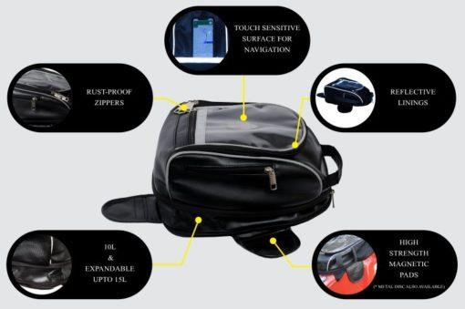 Tryka Gears Premium Leather Tank Bag 2
