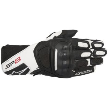 alpinestars sp8 v2 gloves black white