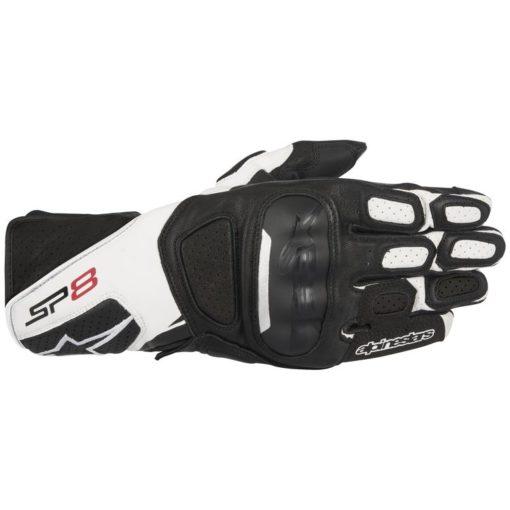 alpinestars sp8 v2 gloves black white