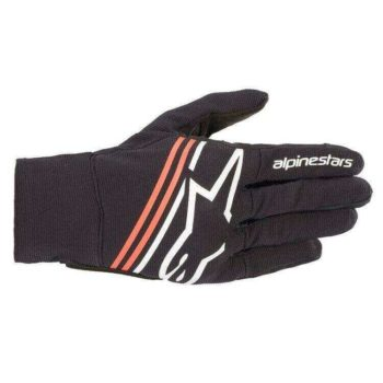 Alpinestars Reef Black White Fluorescent Red Riding Gloves