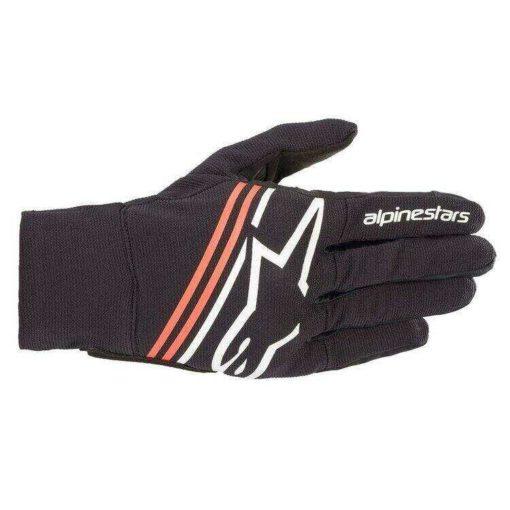 Alpinestars Reef Black White Fluorescent Red Riding Gloves