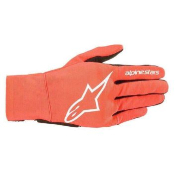 Alpinestars Reef Fluorescent Red White Black Riding Gloves