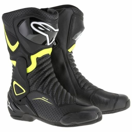 Alpinestars SMX 6 V2 Black Fluorescent Yellow Boots