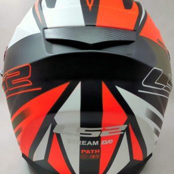 LS2 FF320 Stream Evo Path Matt Black Orange Full Face Helmet 1