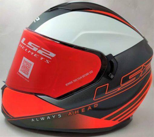 LS2 FF320 Stream Evo Path Matt Black Orange Full Face Helmet