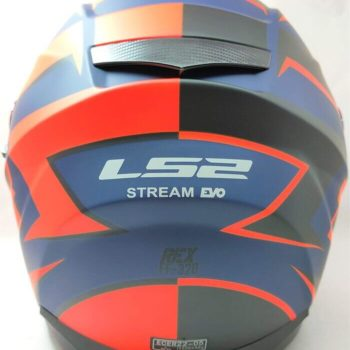 LS2 FF320 Stream Evo Rex Matt Black Orange Full Face Helmet 1