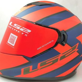 LS2 FF320 Stream Evo Rex Matt Black Orange Full Face Helmet