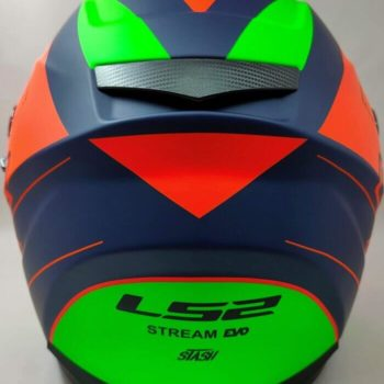 LS2 FF320 Stream Evo Stash Matt Navy Blue Orange Full Face Helmet 1